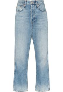 Re/Done '90S Straight-Leg Jeans - Azul