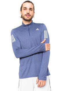 Blusa Adidas Performance Rs Ls Zip Tee M Azul