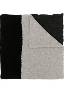 Daniel Andresen Cachecol De Tricô E Lã Com Recortes - Preto