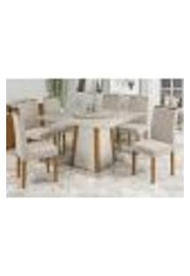 Mesa Julia 135 Cm Tampo Giratório Ype Off White 06 Cadeiras Isabela Ype Wd22 New Ceval