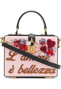 Dolce & Gabbana Bolsa Transversal Dolce Box - Rosa