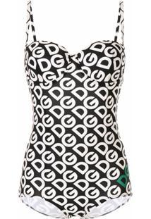 Dolce & Gabbana Body Com Estampa De Logo - Preto