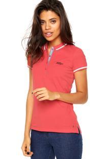 Camisa Polo Tommy Hilfiger Manuela Ss Coral