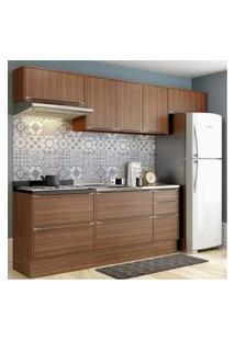 Cozinha Completa Multimóveis Com 6 Peças Calábria 5456R Nogueira