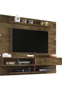 Painel Para Tv Até 65 Polegadas 1 Porta Búzios Moderno Móveis Bechara Madeira Rústica/3D