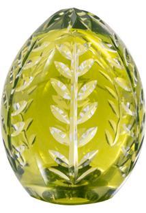 Ovo Decorativo De Cristal Verde Lodz