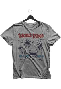 Camiseta Jay Jay Básica Island Vibes Cinza Mescla Dtg