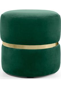 Puff Belt- Domi Móveis - Verde / Dourado