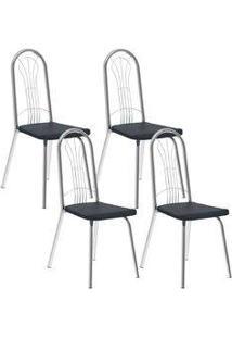 Cadeira 182 Cromada 04 Unidades Jeans Carraro
