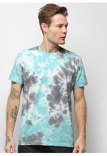 Camiseta Energia Natural Tie Dye - Unissex-Azul+Marinho