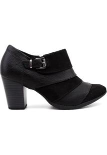 Ankle Boot Piccadilly Feminina - Feminino-Preto
