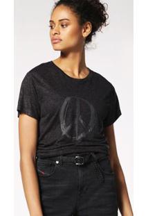 Camiseta Diesel T-Sily-A - Feminino-Preto