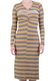 Vestido Hang Loose Maya Stripe - Amarelo / P