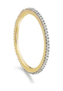 Monica Vinader Skinny Eternity Diamond Ring - Dourado