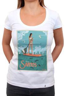 Visite Santos 139 Ton - Camiseta Clássica Feminina
