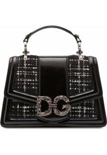 Dolce & Gabbana Bolsa Transversal Amore De Tweed - Preto