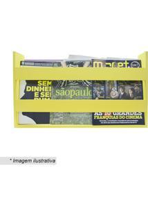 Porta Livros & Revistas- Amarelo- 30X50X11Cm- Kakapos