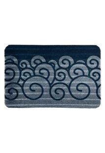 Capacho Carpet Ondas Azul Único Love Decor