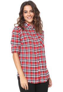 Camisa Fiveblu Xadrez Vermelho/Preto