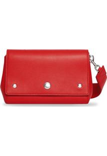 Burberry Bolsa Transversal De Couro Com Estampa - Bright Military Red