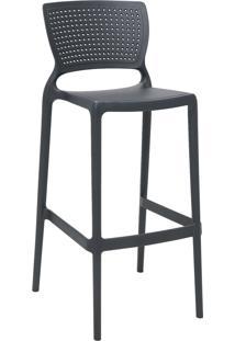 Cadeira Alta Bar Tramontina 92138007 Safira Summa Grafite
