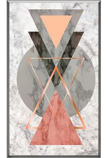 Quadro Decorativo Triã¢Ngulos- Cinza & Salmã£O- 50X70Carte Prã³Pria