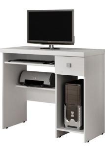 Escrivaninha/Mesa Para Computador System Valdemóveis -Branco Fosco