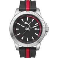 249ab0fc2dd Relógio Masculino Puma Analogico - Unissex-Preto+Vermelho