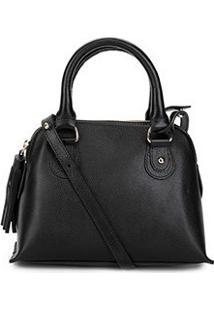 Bolsa Couro Shoestock Mini Handbag Feminina - Feminino-Preto
