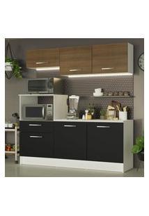 Cozinha Compacta Madesa Onix 180001 Com Armário E Balcáo Branco