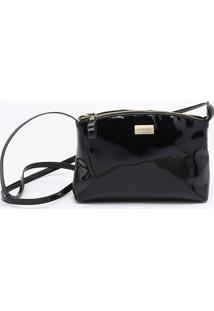 Bolsa Shoulder Bag Verniz Preta - Único