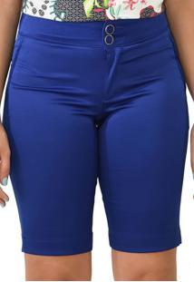 Bermuda Energia Fashion Plano Liso Azul