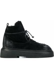 Marsèll Ankle Boots Em Couro - Preto