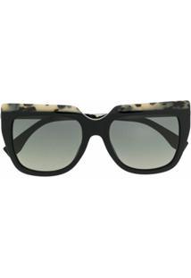 Fendi Eyewear Óculos De Sol Quadrado Ff0087S - Preto