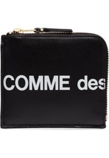 Comme Des Garçons Wallet Carteira Com Logo E Zíper - Preto