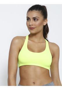 Top Nadador Liso Com Elástico- Amarelo Neon- Patrapatra