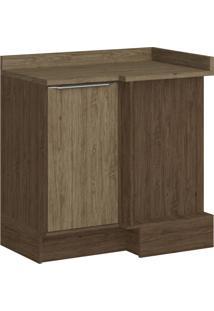 Armário De Cozinha Canto Reto 1 Porta Sem Pé 4039R Cedro/Wood - Decibal Móveis