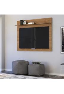 Painel Para Tv Até 47 Pol Colibri Maia 1 Prateleira Natural Real