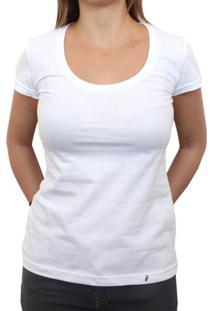 Camiseta Clássica Feminina Lisa Branca