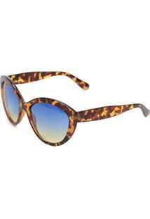 Óculos Polo London Club Tartaruga Degradê Feminino - Feminino-Azul