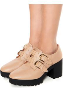 Ankle Boot Vizzano Fivelas Nude