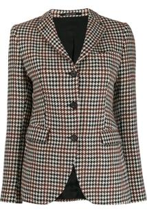 Tagliatore Single-Breasted Blazer Jacket - Marrom