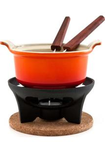Fondue Em Ferro Para Chocolate Laranja Le Creuset