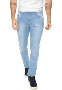 Calça Jeans Polo Wear Reta Estonada Azul