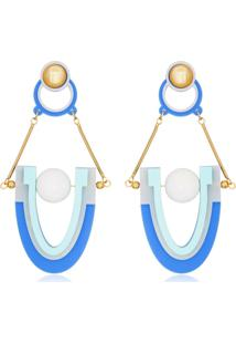 Brinco Le Diamond Geométrico Azul - Kanui