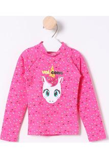 Camiseta Unicórnio & Confetes- Rosa & Branca- Puketpuket