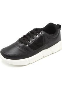 Tênis Dafiti Shoes Recortes Preto