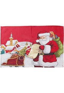 Jogo Americano Papai Noel Mesa Natal 34X48Cm Vermelho