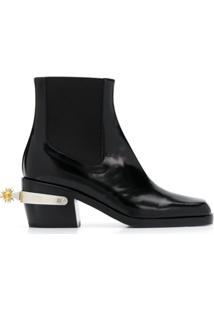 Nodaleto Ankle Boot Com Detalhe De Espora - Preto