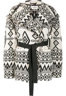 Isabel Marant Étoile Frayed-Edge Knitted Jacket - Preto